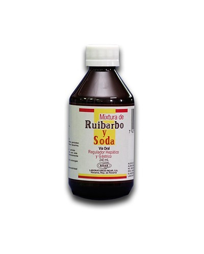 Mixtura de Ruibarbo y Soda...